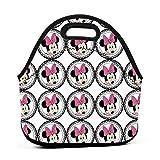 Yuanmeiju bolsa del almuerzo Pink Minnie Portable Insulated bolsa del almuerzo Reusable Thermal Lunch Tote Handbags Men Women Adult Kids For Work Outdoor Travel Picnic