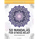 50 Mandalas for Stress-Relief (Volume 1) Adult Coloring Book: Beautiful Mandalas for Stress Relief and Relaxation