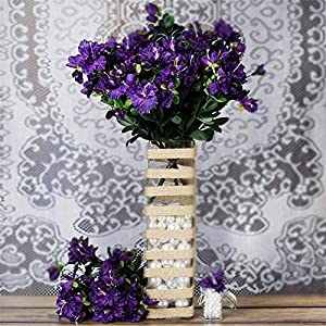 Tableclothsfactory 120 pcs Artificial GARDENIAS Flowers for Wedding Arrangements – Purple