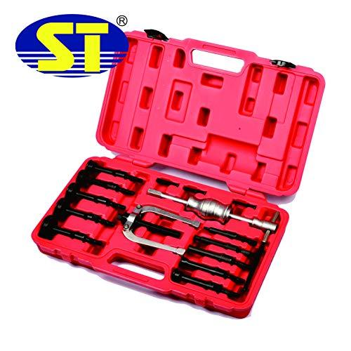 Special Tools 16-TLG. Innenlager Abzieher Set Grundloch Lager Abzieher Set Sackloch Auszieher Werkzeug mit Gleithammer Innenlagerabzieher-Set