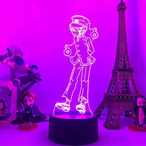 Lámpara De Ilusión 3D Luz De Noche Led Hanako Kun- Para Decoración De Dormitorio Regalo De Anime Colorido Lámpara De Mesa De Atmósfera Táctil De 7 Colores