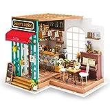 Rolife 3D Maison De Poupée en Bois avec La Maison De Café Miniature De Lumière Bricolage Modèle Kit (Simmon's Coffee)