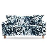 WXQY Funda de sofá elástica de mármol Funda de sofá elástica Funda de sofá moteada Funda de sofá Antideslizante Envuelta herméticamente A13 3 plazas