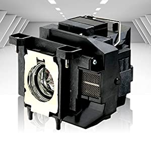 Supermait EP67 A+ Quality Replacement Projector Lamp Bulb with Housing Compatible with Elplp67 Compatible with EB-S02 EB-S11 EB-S12 EB-SXW11 EB-SXW12 EB-W02 EB-W12 EB-X02 EB-X11 EB-X12 EB-X14 EB-X15