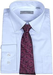 Men's Long Sleeve Dress Shirt Matching Tie Set