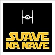 Placa Decorativa Suave na Nave Legião Nerd Multicor Pacote de 2