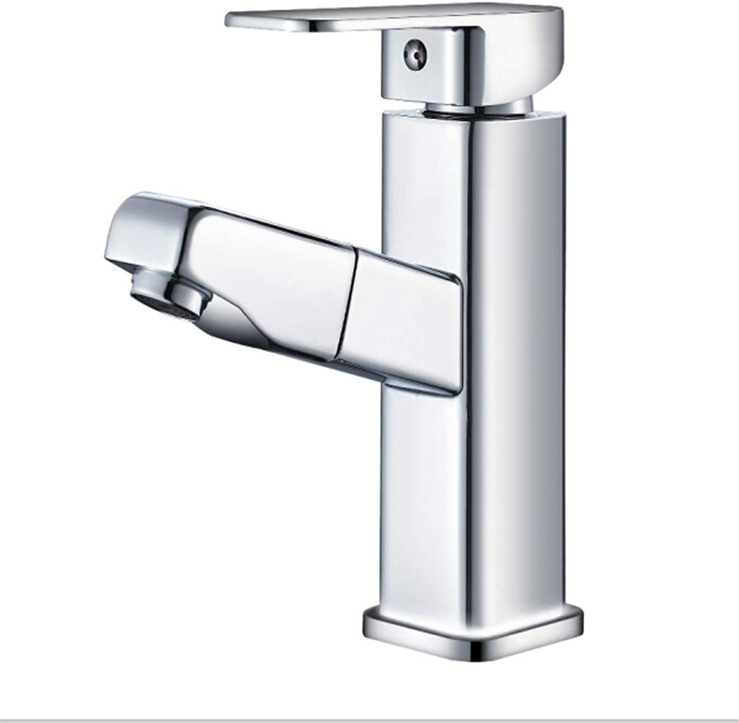 Counter Drinking Designer Archcopper Pull-Out Faucet Single Hole Hot and Cold Wash Basin Faucet