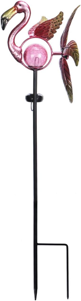 Afirst Solar Flamingo Wind Max 62% OFF Spinner Finally popular brand Kinetic Stake W Metal Garden