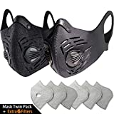 BASE CAMP Dust Pollution Mask Activated Carbon Dustproof Mask with N99 Filters Neoprene Air Pollution Mask for...