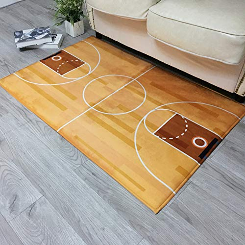 ZZXXBB Entrance Doormat Basketball Court Designed with Looking, Multiple Sizes Easy Clean Rug for Kitchen,Living Room,Bedroom,Garden,Camping-a 90x155cm(35x61inch)