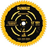 DEWALT 12-Inch Miter Saw Blade, Precision Trim, ATB, Crosscutting, 1-Inch Arbor, Tough Coat Finish, 60-Tooth (DW3216PT)