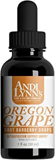 Andi Lynn's Oregon Grape Root Barberry Drops - High in The Alkaloid of Berberine- Ethically Wild Harvested, Healthy Gut, H...