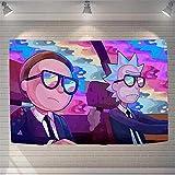 CTYNB Wandteppiche Rick Und Morty Cartoon Hintergrund Tuch