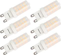 Dimmable G9 LED Bulb Seealle 4W Warm White 3000K G9 Bi-Pin Base 40W Halogen Equivalent AC120V(Pack of 6)