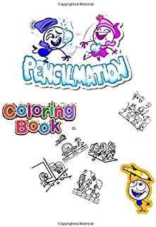 pencilmation abc coloring book for kids: Fun Coloring Books for Toddlers & Kids Ages 2, 3, 4 & 15 - Activity Book Teaches ...