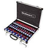 "Stalwart Router Bit Set-35 Piece Kit with ¼"" Shank and Aluminum Storage Case"
