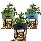 TETHYSUN Pflanzbeutel, für Gartenpflanzen, verdicktes PVC und Vliesstoff, für...