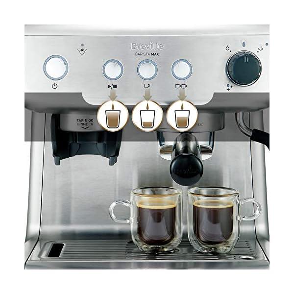 Breville Barista Max VCF126X – Máquina de café expreso, totalmente