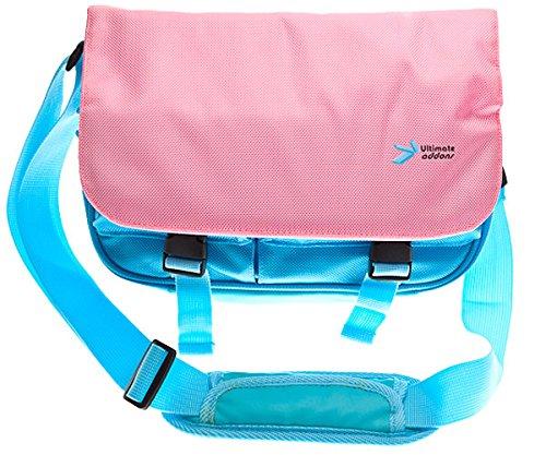 Ultimateaddons Kids Pink/Turquoise Messenger Style Bag for Lenovo Tab 3 7'