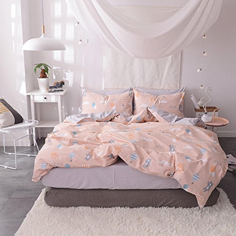 Auvoau Kids Bedding Cartoon Bedding Set Balloon Bedding Set Teen Bedding Set 4 Piece (1, Twin)