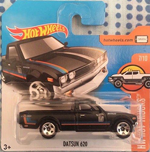 Hot Wheels 2017 HW Hot Trucks Datsun 620 Black 317/365 (Short Card)