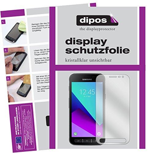 dipos I 2X Schutzfolie klar kompatibel mit Samsung Galaxy Xcover 4 Folie Bildschirmschutzfolie