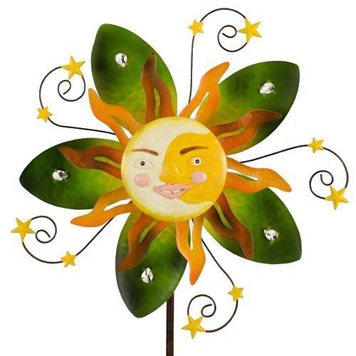 Carillon Sunface Summer Métal éolienne soleil Décoration de jardin