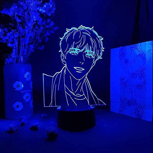3D LED nattlampa illusion dekor akryl lampa upp bord Bl anime AJ Alex Otaku rum konst mangwa figur Ah Jiwon
