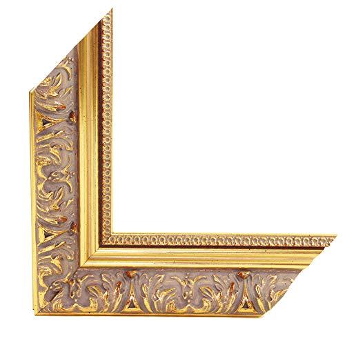 OLIMP-29 Bilderrahmen 33x95 cm Echtholz Barock in Farbe Antik Gold Glänzend