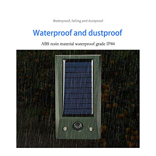 Ultraschall Solar Tiervertreiber, Katzenschreck, Marderschreck bis zu 8m Reichweite, Bewegungsmelder, Wetterfest IP68, NI-MH Akku, Frequenz (Grün)