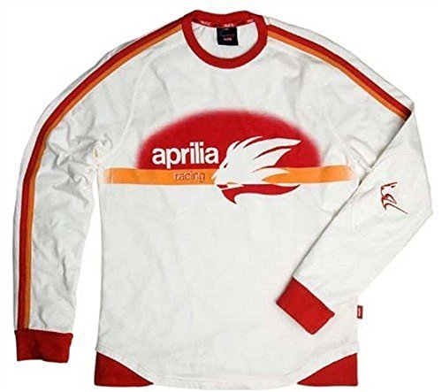 Aprilia Sweatshirt Long Racing White weiß, Größen:XXL