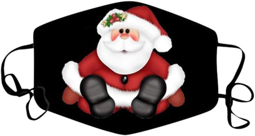 Rosennie 2 St/ück Mundschutz Weihnachten Herren Damen Schneeflocke Druck Gesichtsschutz Bandanas Weiche Waschbare Wiederverwendbare Einstellbar Kopftuch Halstuch