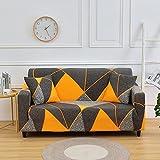 MKQB Funda de sofá con combinación de Esquina geométrica para Sala de Estar, Funda de sofá elástica elástica, Funda de sofá con protección para Mascotas N ° 2 L (190-230cm)