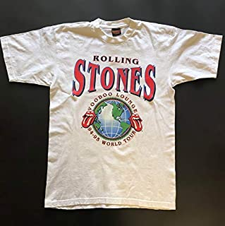 1994 1995 ROLLING STONES Voodoo Lounge Tour Tee White Vintage 60`s 70`s 80`s 90`s Rock Band Concert TShirt T-Shirts for Women Men Girl Boys Cute.
