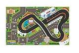 KidsGlobe Spielteppich Rennstrecke (Teppich 72x120cm, mit vielen LED, incl. Batterie) 570346