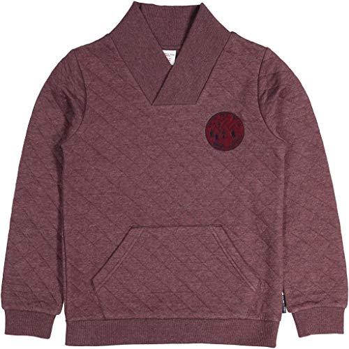 Polarn O. Pyret Quilted Shawl Neck Sweatshirt (6-12YRS) - 8-10 Years/Tawny Port