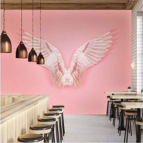 Ins Fototapete Pink Angel Wings Tapete 3D Fototapete Studio Online Hot Online Fototapete Shop Hintergrund Fototapete 3D-360X280CM