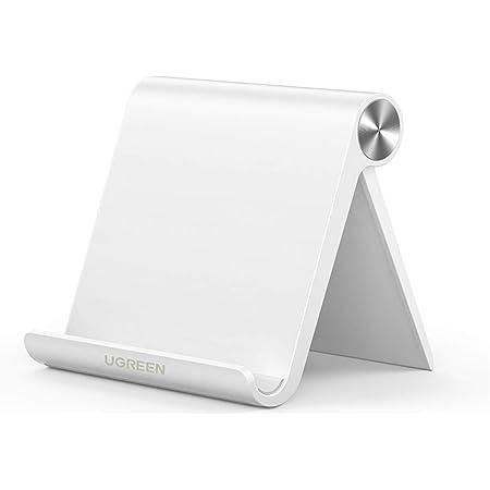 UGREEN スマホスタンド 携帯電話スタンド 卓上 iPhone 12/mini/Pro/ProMax スタンド 折りたたみ式 角度調整可能 4~7.9インチのiPhone Androidスマホ タブレットに適用 スマホホルダー