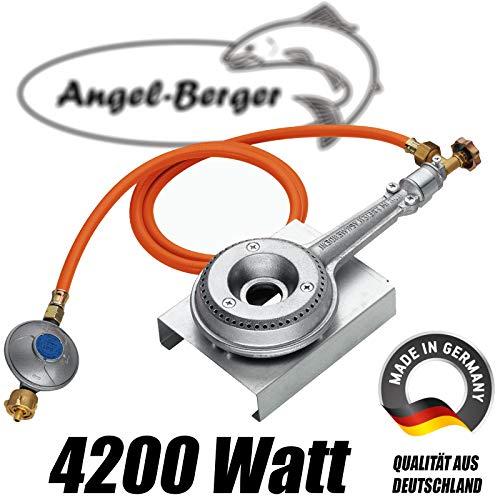 Angel-Berger Gasheizung Gasbrenner für Räucherofen 4,2 kW Heizung Räucherschrank Räucherheizung 4200W
