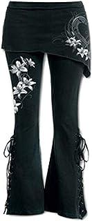K-Youth® Vaqueros Ceñidos de Tiro Alto Mujer Elástico Vaqueros Mujer Acampanados Slim Casual Jeans Mujer Acampanados Panta...