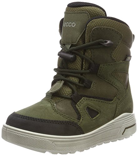 ECCO Unisex-Kinder URBAN Snowboarder Schneestiefel, Grün (Black/Grape Leaf 59637), 30 EU
