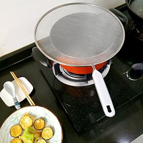 オイルスクリーン油はねガード18-8ステンレスキッチンネット29cm油はね防止水切り多機能細目