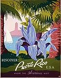 The Poster Collective Vintage entdecken sie Puerto Rico