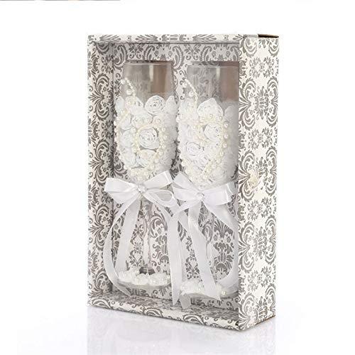 JIANGUO Copas de Vino 2 Unids/Set Fashion Wedding Glass Fashing Toasting Wedding...