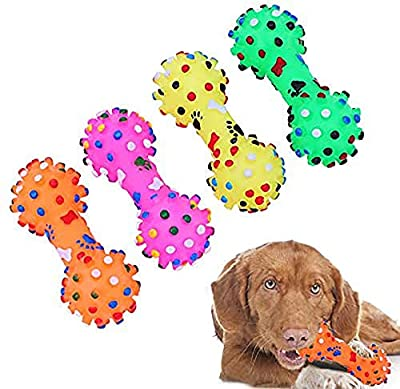 KOMUSII Squeak Dog Toys,Extreme Dog Toy,Interactive Dog Toys,Dog Pet Chew Teeth Cleaning Toys,Non-Toxic Soft Natural TPR Rubber Training,For 20-40 lbs Small Medium Dogs,(4 Pack),Dog Chew Toys
