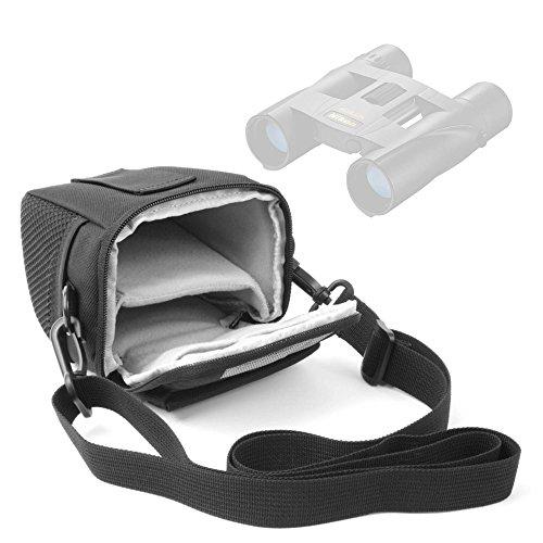 DURAGADGET Funda para Prismáticos Nikon Sportstar EX 10x25DCF, Aculon T01 8x21, Sportstar EX 8x25 DCF   con Asa De Hombro Ajustable - Ideal para Viajes/Excursiones