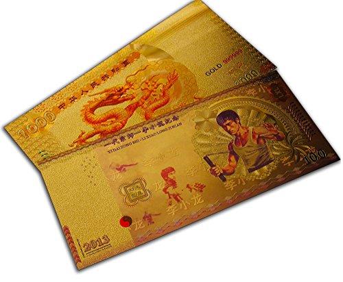 Spezielle legendäre seltene Kampfkunst Geschenk Bruce Lee & Chinese Dragon Banknote Set