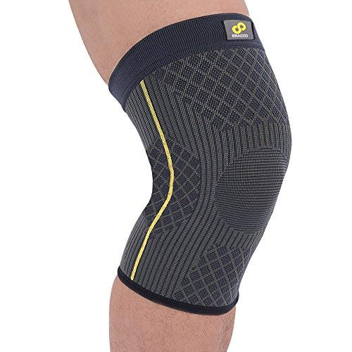 Bracoo KE90 I Rodillera Transpirable Compresión Dinámica. Da Soporte y Protege la Articulación Proporcionando Mayor Estabilidad Muscular Sin Restringir el Moviminto Natural. Talla XL