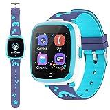 etpark smart watch, orologio intelligente per bambini con chat vocale, gioco puzzle telefono sos smart watch con sveglia fotografica regalo di compleanno festival per ragazzi e ragazze touch screen