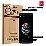 Amytech [2 Pack] Xiaomi Redmi 5 PlusProtector de Pantalla Cristal Vidrio Templado Edge-Cobertura Completa 2.5D 0.33mm 9H PremiumProtector de Pantalla para Xiaomi Redmi 5 Plus (Blanco)